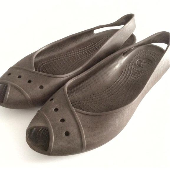 b01b80550e52 CROCS Shoes - Crocs Adrina Lil Peep Toe Expresso Ballet Flats 11